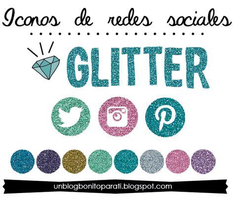 Freebies: Iconos de redes sociales glitter   Mi diamante azul