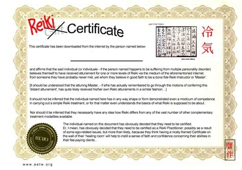 FREEREIKI CERTIFICATE To validate all those FREE online ...
