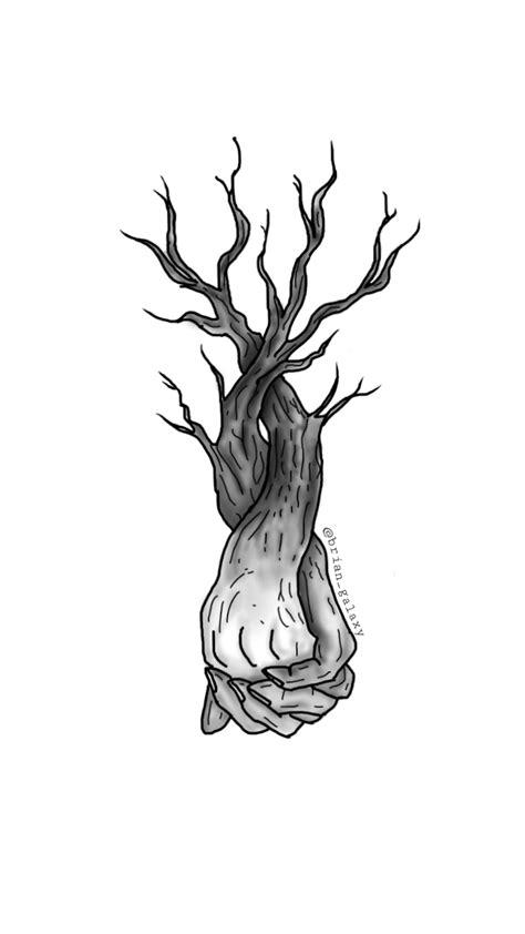 freetoedit mano dibujo amor arbol lapiz blanco negro...
