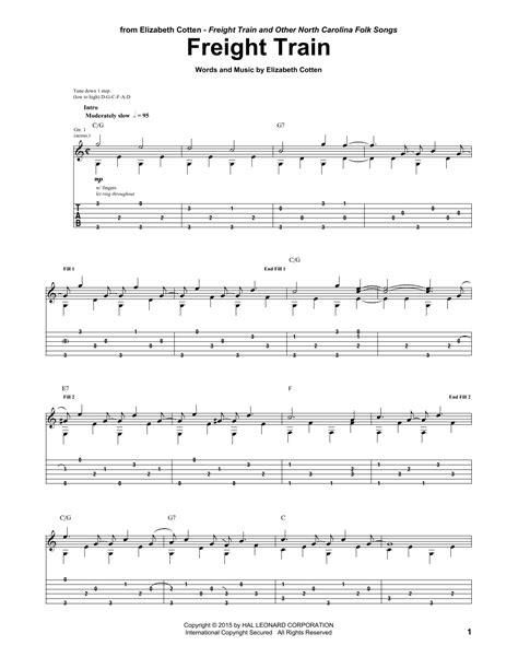 Freight Train by Elizabeth Cotten   Guitar Tab   Guitar ...