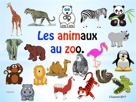 French – Zoo Animals. | Teaching Resources