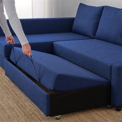 FRIHETEN Sofá cama esquina con almacenaje   Skiftebo azul ...