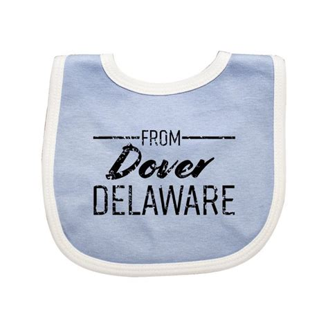 From Dover Delaware in Black Distressed Text Baby Bib ...