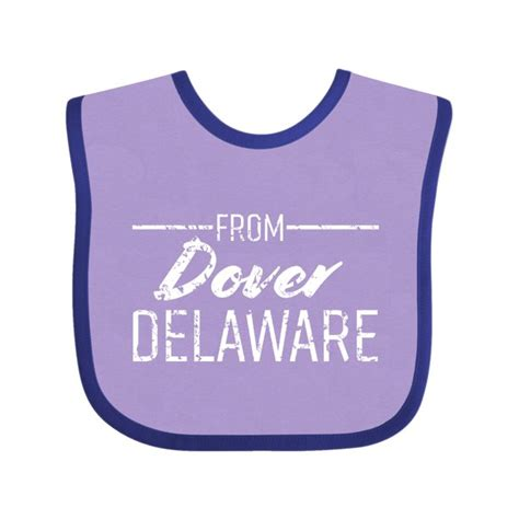 From Dover Delaware in White Distressed Text Baby Bib ...