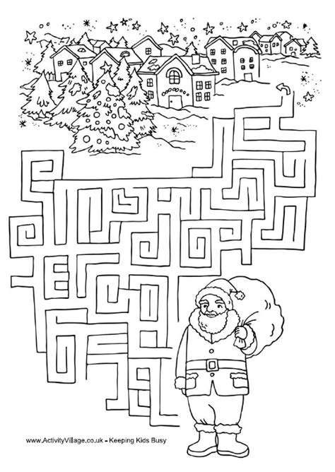 From The Heart Up.: Christmas colouring pages and activity ...