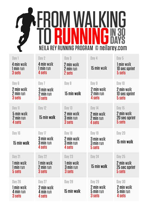 from walking to running in 30 days   exercise   Pinterest ...