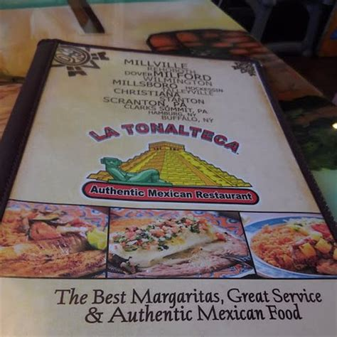 front of menu   Picture of La Tolteca Mexican Restaurant ...
