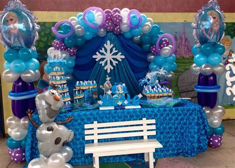 Frozen   Cumpleaños frozen, Decoración con globos y Globos