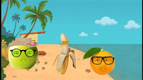 Frutas animadas en la playa   YouTube