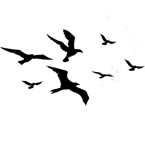 ftestickers birds silhouette flock animal bird...