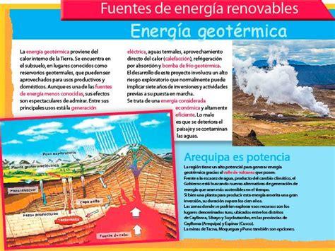 Fuentes de energía renovables: Energía geotérmica ...