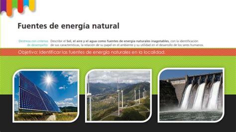 Fuentes de enrgia natural