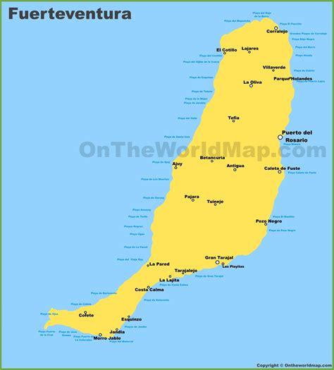 Fuerteventura Maps | Canary Islands Spain | Map of ...