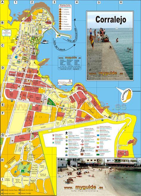 Fuerteventura street map from Corralejo