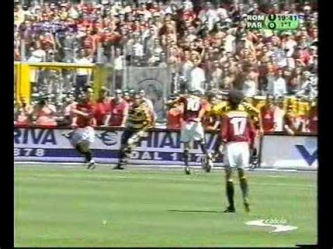 Full match AS Roma AC Parma 3 1 scudetto 1 tempo 2   YouTube