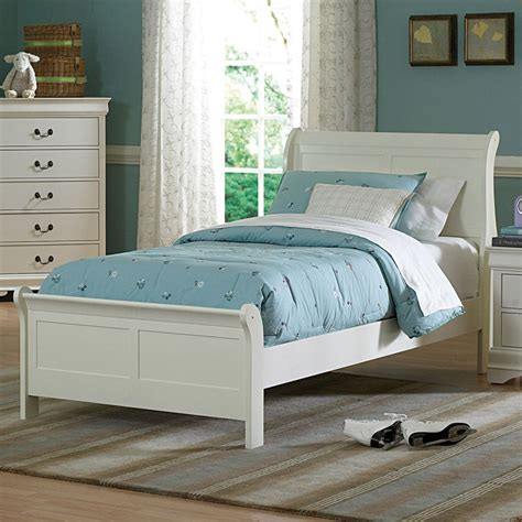 Full Size Bed in Soft White: Choose Your Full Size Sleigh ...