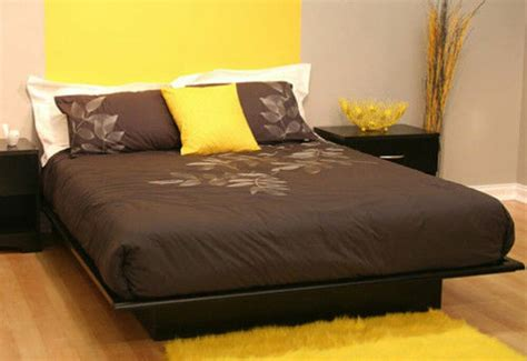 Full Size Black Platform Bed Frame Mattress Bedroom Cheap ...