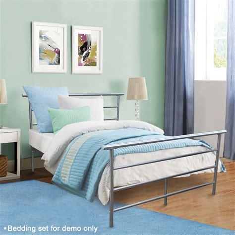 Full Size Silver Headboard Footboard Furniture Bedroom ...