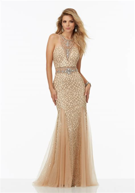 Fully Beaded Prom Dress Featuring Caviar Beading | Style ...
