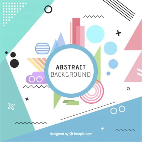 Fun background with abstract style Vector | Free Download