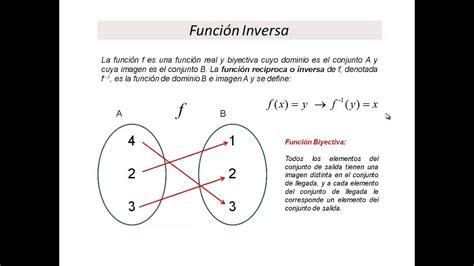 Función Inversa Definición y Ejemplos   YouTube