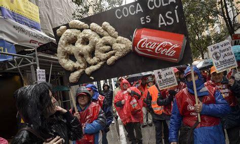 Funcionários da Coca Cola protestam em Madri contra o ...