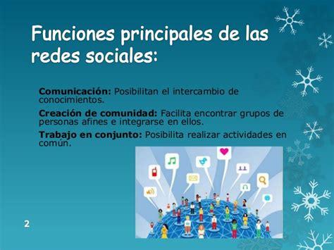 Funciones principales de las redes sociales