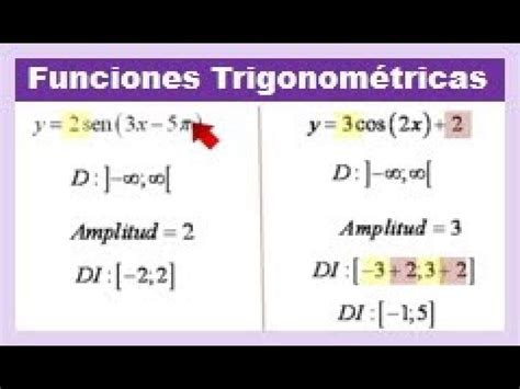 Funciones trigonometricas dominio y rango ejercicios ...