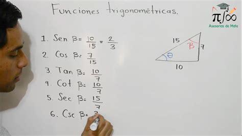 Funciones trigonométricas   Ejemplos   + Ejercicio de ...