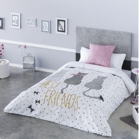 Funda nórdica juvenil gris Cat gatos para cama 135, 105 o ...