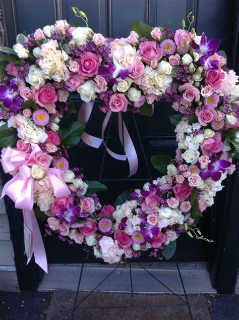 Funeral Heart   Funeral flower arrangements, Flower wreath ...