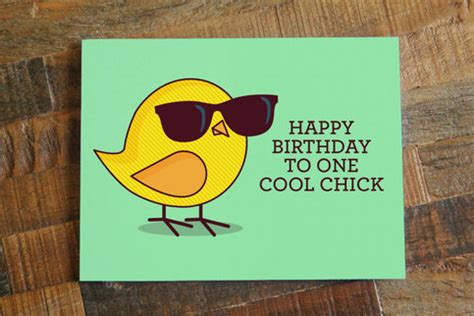 Funny Birthday Card For Her  Happy Birthday to One Cool ...