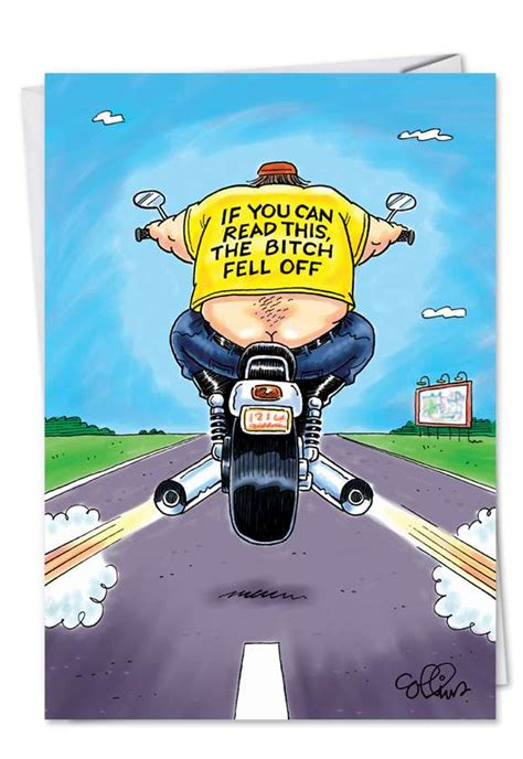 Funny Bitch Fell Off Motorcycle Birthday Card ...