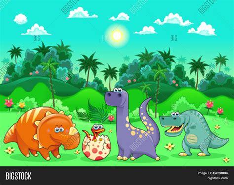 Funny Dinosaurs Vector & Photo  Free Trial  | Bigstock