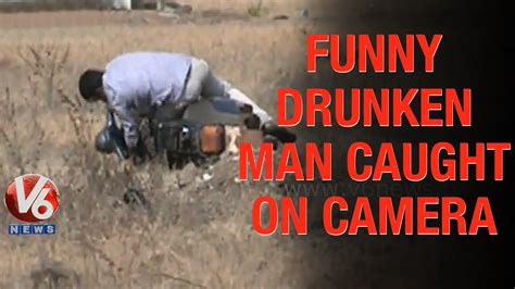 Funny Drunk Man Caught On Camera In Vikarabad | Teenmaar ...