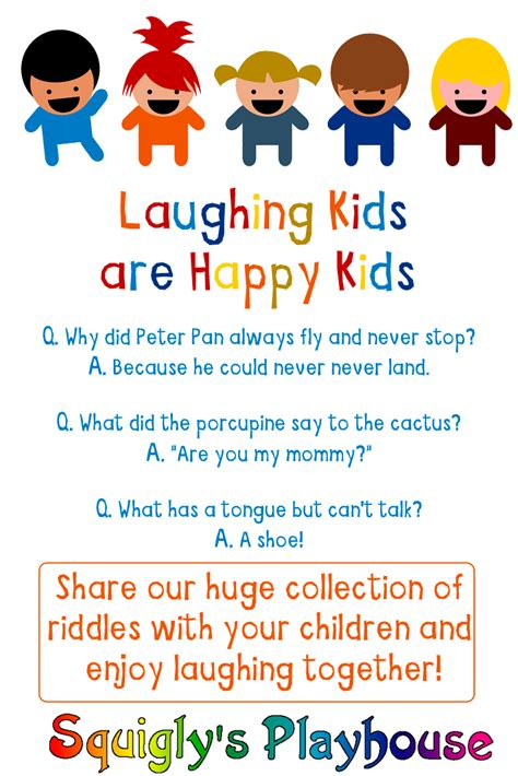 Funny Riddles for Kids at Squigly s Playhouse