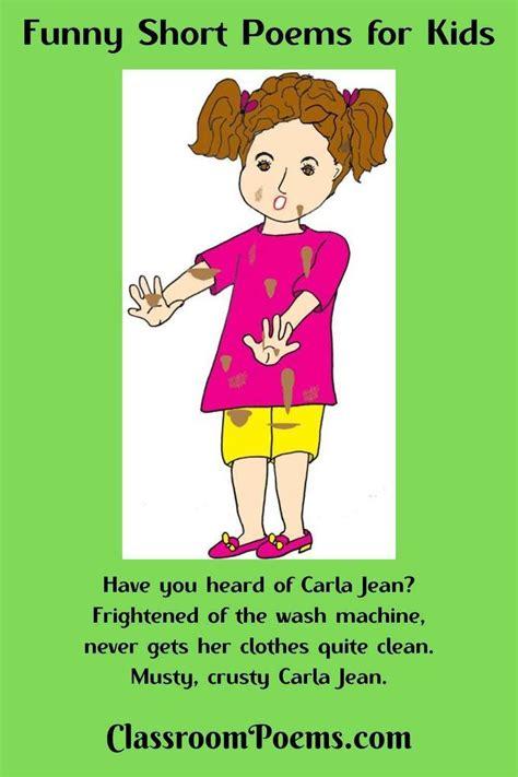 Funny Short Poems | Short poems for kids, Short poems ...
