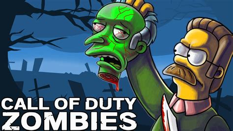 FUNNY! SIMPSONS ZOMBIE SURVIVAL ★ Call of Duty Zombies Mod ...