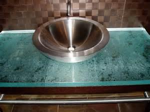 Fusion Glass bathroom vanity top   Brooks Custom ...