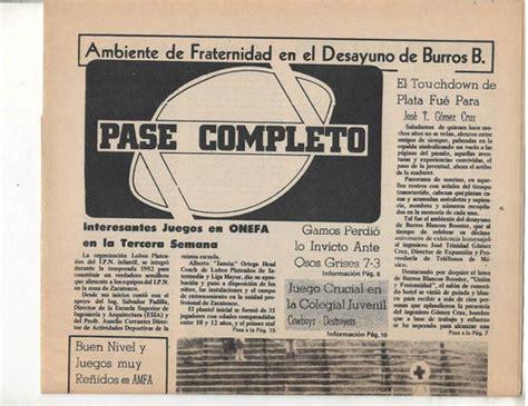 Futbol Americano Periodico Paso Completo 1983 No 5   $ 350 ...