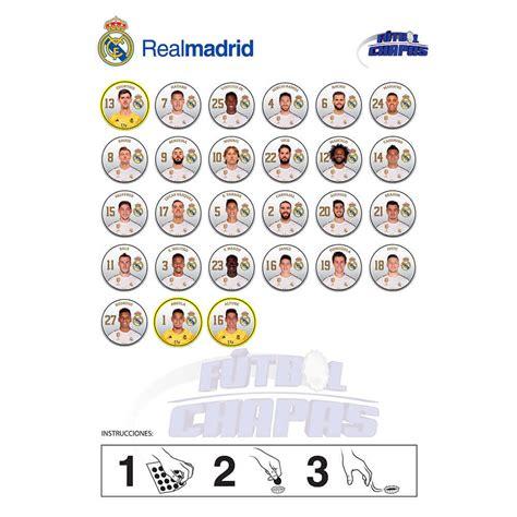 Fútbol Chapas Real Madrid  Producto Oficial 2020