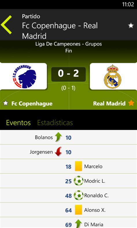 Fútbol en directo, ahora en Windows Phone