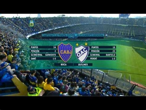 Fútbol en vivo. Boca   Quilmes. Fecha 17 del torneo de ...