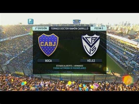 Fútbol en vivo. Boca   Vélez. Fecha 5. Torneo Primera ...