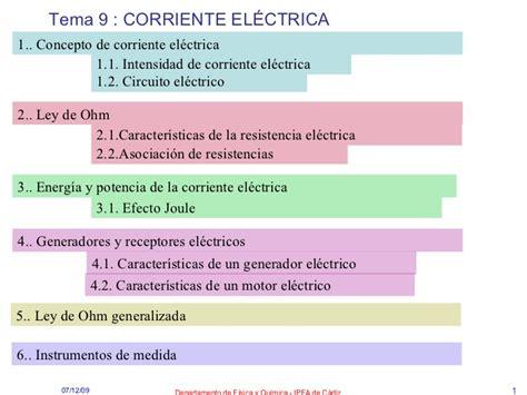 Fy Q1 Tema 9 Corriente Electrica
