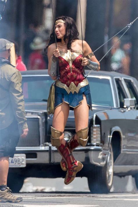 Gal Gadot is Wonder Woman as she does incredible aerial ...