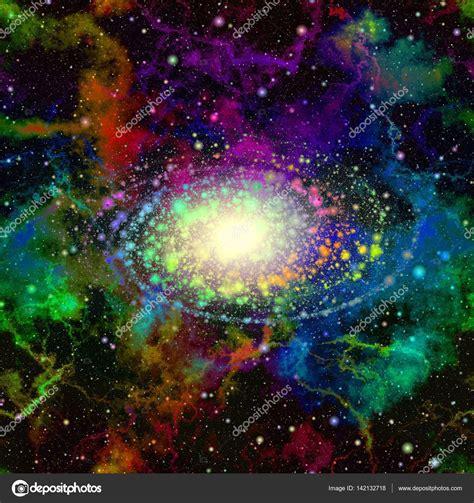 Galaxia multicolor   Abstracto colorido universo espacio ...