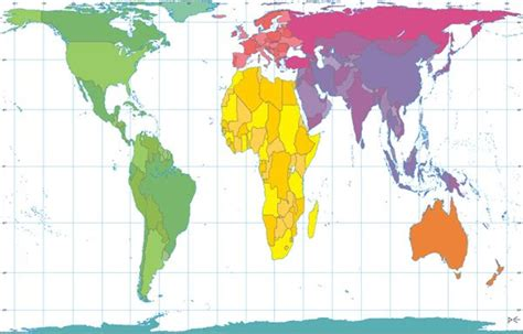 Gall Peters projection and Mercator projection   The World ...