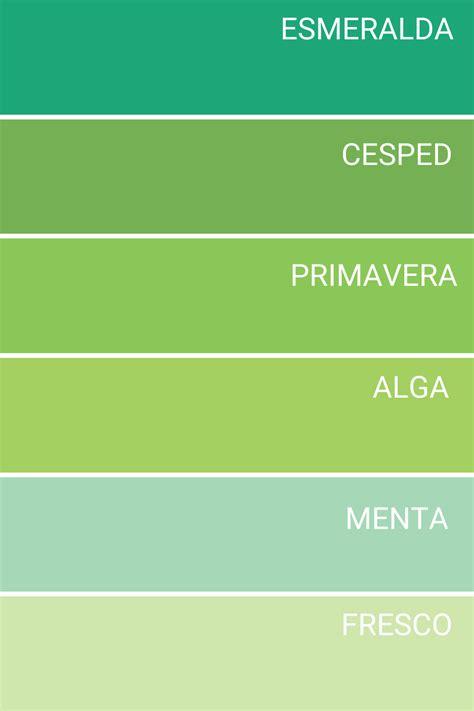 Gama de colores verdes en 2020 | Gama de colores verdes ...
