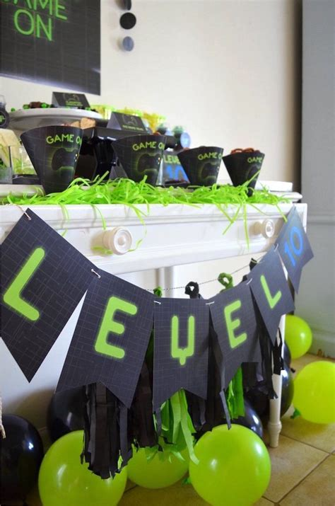 Gaming + Video Gamer Birthday Party | Boy Party Ideas ...